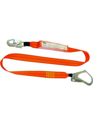 2m Shock Lanyard with 1 x Double Action Hook & 1 x Scaffold Hook