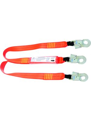 1.5m Double Leg Shock Absorbing Lanyard with 3 x Double Action Hooks