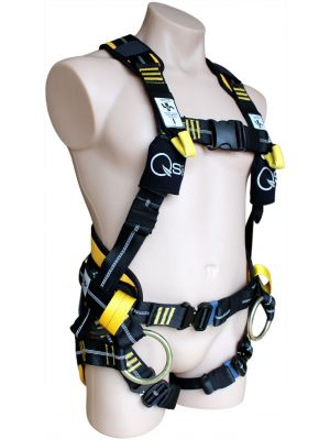 Premium Tower Harness with Insulated Chest & Webbing Dorsal D-Ring