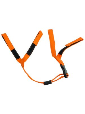 Orange FR Chin Strap with QR Buckle