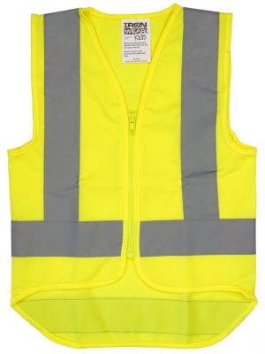 Childrens Vest Hi-Vis (with refl. tape) - Yellow - Size Small