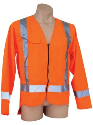 Ironwear Hi Vis Day/Night Long Sleeve Vest in Orange